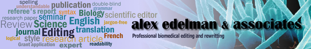 Professional biomedical editing and erwritting